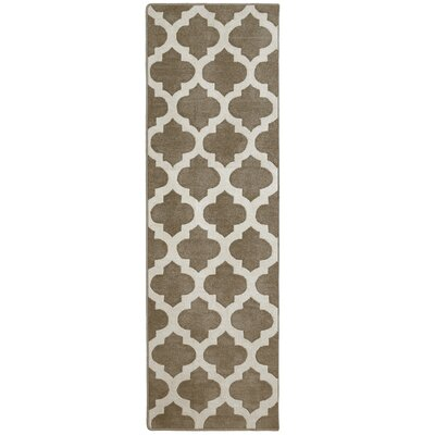 Elite Taupe Area Rug Rug Size: Runner 26 x 8