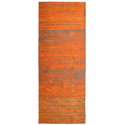 Sari Marigold Hand Woven Area Rug Rug Size: Runner 2 x 8