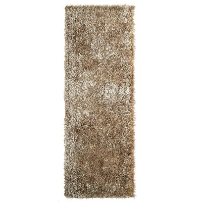 City Shag Gold Area Rug Rug Size: Runner 26 x 8