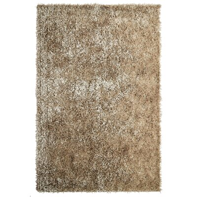 City Shag Gold Area Rug Rug Size: 4' x 6'