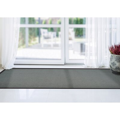 Ornelas Charcoal/Silver Area Rug Rug Size: Rectangle 8 x 10