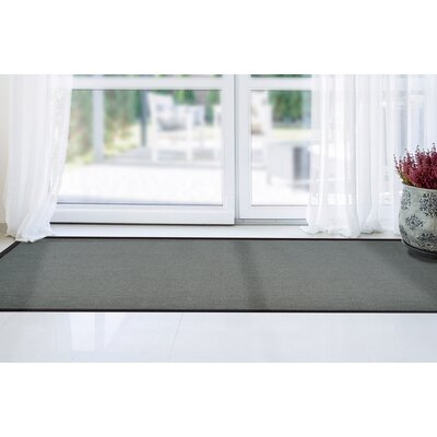 Ornelas Charcoal/Silver Area Rug Rug Size: Runner 2 x 8