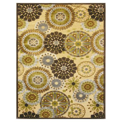 Sunchine Yellow/Brown Rug Rug Size: 4 x 6