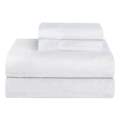 Celeste Home Ultra Soft Flannel Cotton Sheet Set Color: White, Size: California King