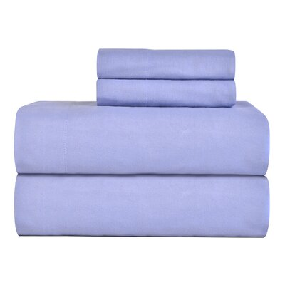 Celeste Home Ultra Soft Flannel Cotton Sheet Set Size: Queen, Color: Blue