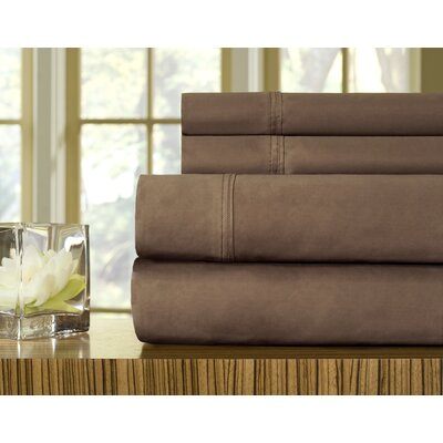510 Thread Count Pillowcase Size: Standard, Color: Coffee Bean