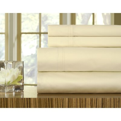 510 Thread Count Pillowcase Size: Standard, Color: Ecru