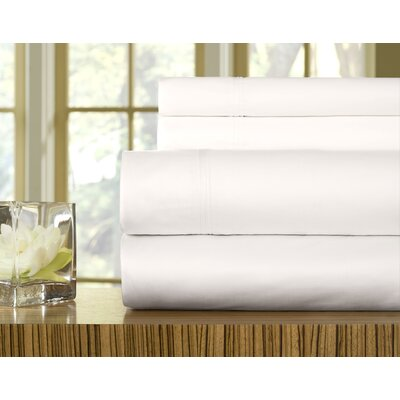 510 Thread Count Pillowcase Size: King, Color: White