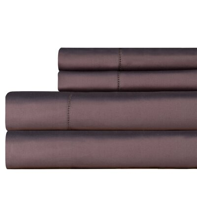 610 Thread Count Pillowcase Size: King, Color: Grey
