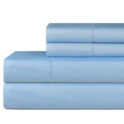 610 Thread Count 4 Piece Pima Cotton Sheet Set Size: California King, Color: Spa Blue