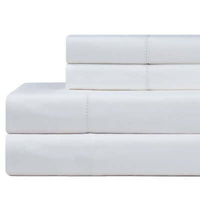 610 Thread Count 4 Piece Pima Cotton Sheet Set Size: King, Color: White