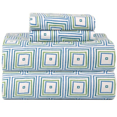 Celeste Home Ultra Soft Flannel Matrix Cotton Sheet Set Size: Queen