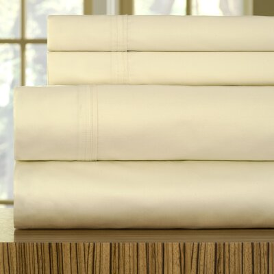 510 Thread Count Egyptian Quality Cotton Sheet Set Size: California King, Color: Ecru
