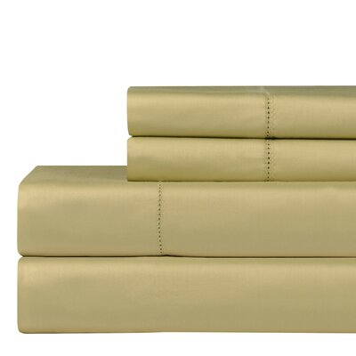 610 Thread Count 4 Piece Pima Cotton Sheet Set Size: California King, Color: Pistachio
