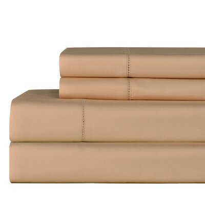 610 Thread Count 4 Piece Pima Cotton Sheet Set Size: Queen, Color: Sesame