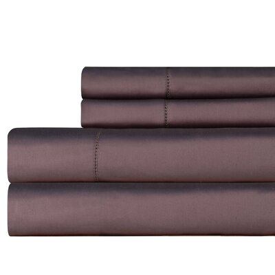 610 Thread Count 4 Piece Pima Cotton Sheet Set Size: Queen, Color: Grey