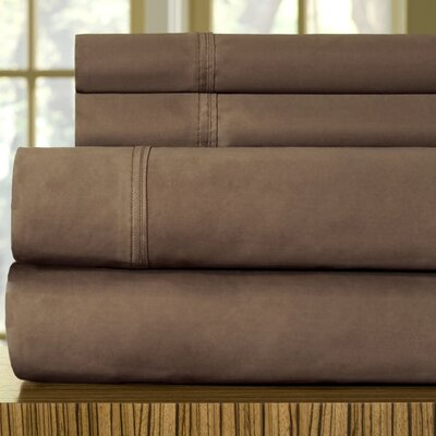 510 Thread Count Egyptian Quality Cotton Sheet Set Color: Coffee Bean, Size: King
