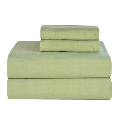 Celeste Home Ultra Soft Flannel Cotton Sheet Set Size: Twin Extra Long, Color: Sage