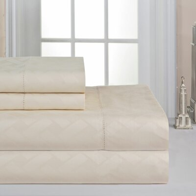 410 Thread Count Sheet Set Size: King, Color: Bone