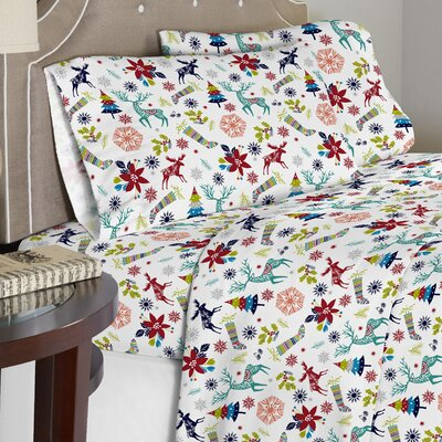 Contemporary 190 GSM 100% Cotton Sheet Set Size: Queen