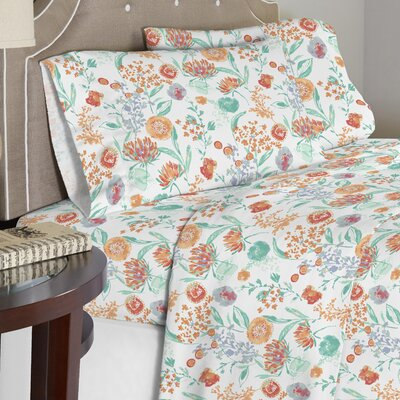 Vannucci 190 GSM 100% Cotton Sheet Set Size: Twin XL