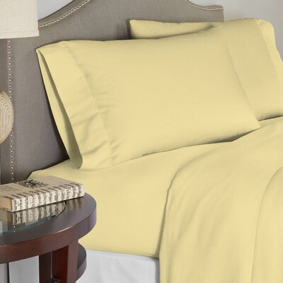 Modern 190 GSM 100% Cotton Sheet Set Size: King, Color: Butter