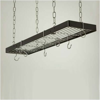 Rectangle Hanging Pot Rack with Grid 2401