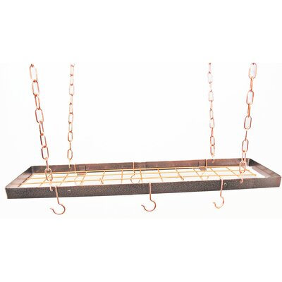 Rectangle Hanging Pot Rack with Grid 2444