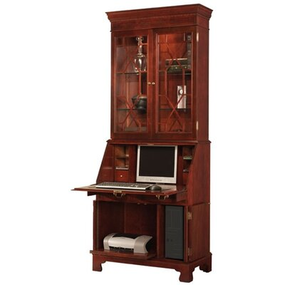 Traditions Painted Computer Secretary Hutch Tomato picture