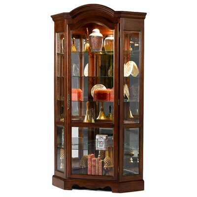 Cheap Jasper Cabinet Brighton Corner Curio Cabinet Finish: Dark Cherry (JCA1127_6840117)