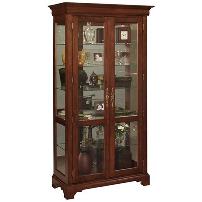 Cheap Jasper Cabinet Chateau Curio Cabinet Finish: Dark Cherry (JCA1048_6840119)