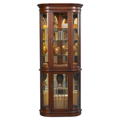 Cheap Jasper Cabinet Hamilton Curved Corner Curio Cabinet Finish: Dark Cherry (JCA1057_6840111)