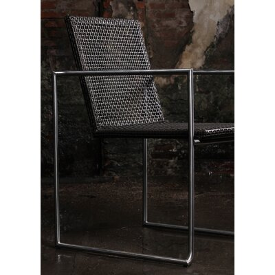 Justis Stainless Steel Arm Chair (Set of 4)