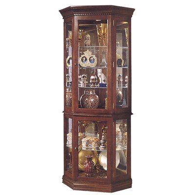 Buy Low Price Jasper Cabinet Lorraine Corner Curio Cabinet Finish: Dark Cherry (JCA1062_6840113)