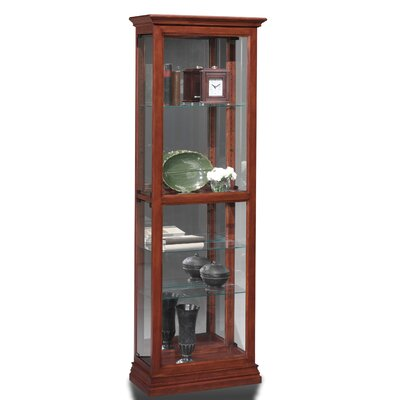 Todd Lighted Curio Cabinet Color: Dark Cherry