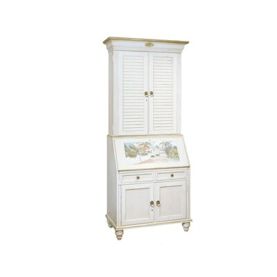 Bahama-Breeze-Computer-Secretary-Desk-Hutch-York