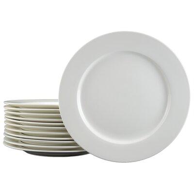 """Tannex White Tie Caterer 11"""" Dinner Plate (Set of 12)"""
