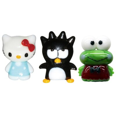 3 Piece Hello Kitty 2, BadtzMaru and Keroppi Figurine Set 42004