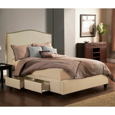 Newport Upholstered Storage Platform Bed Size: King, Color: Tan