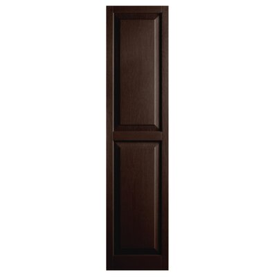 """Alpha Shutters Exterior 15"""" x 67"""" Raised Panel Shutter (Set of 2) - Color: Brown at Sears.com"""