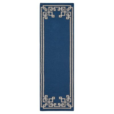 Alameda Sapphire Blue Area Rug Rug Size: Runner 26 x 8