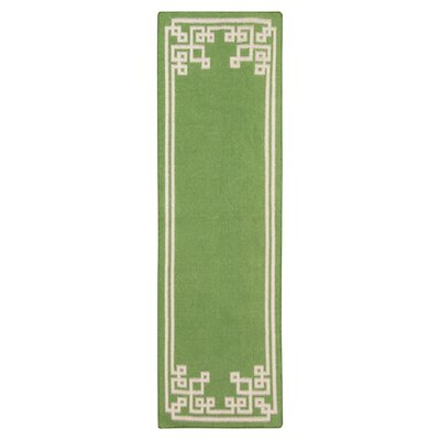 Alameda Spinach Green Area Rug Rug Size: Runner 26 x 8