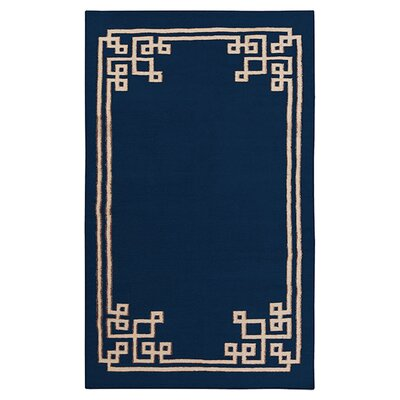 Alameda Sapphire Blue Area Rug Rug Size: Rectangle 33 x 53