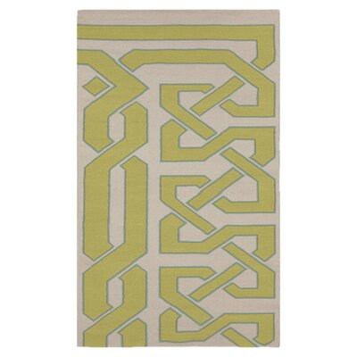Alameda Bone & Green Area Rug Rug Size: Rectangle 33 x 53
