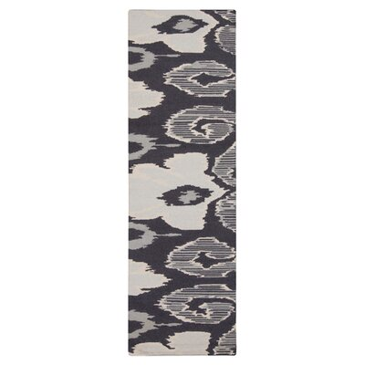 Alameda Hand woven Gray/White Area Rug Rug Size: Runner 26 x 8