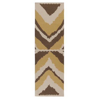 Alameda Hand woven Ivory/Brown Area Rug Rug Size: Runner 26 x 8