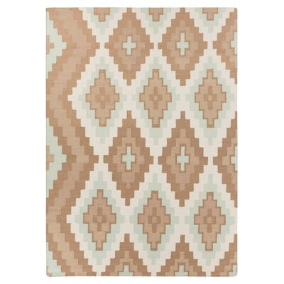 Alameda Hand woven Brown/Ivory Area Rug Rug Size: Rectangle 2 x 3