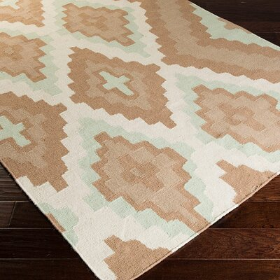 Alameda Hand woven Brown/Ivory Area Rug Rug Size: Rectangle 33 x 53