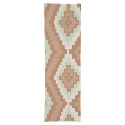 Alameda Hand woven Brown/Ivory Area Rug Rug Size: Runner 26 x 8