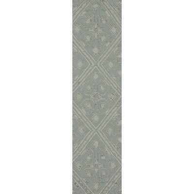 Alameda Hand woven Blue Haze Area Rug Rug Size: Runner 26 x 8